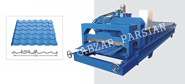 glazed tile (wave)  roofing forming machine