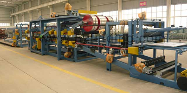 EPS-sandwich panel production line